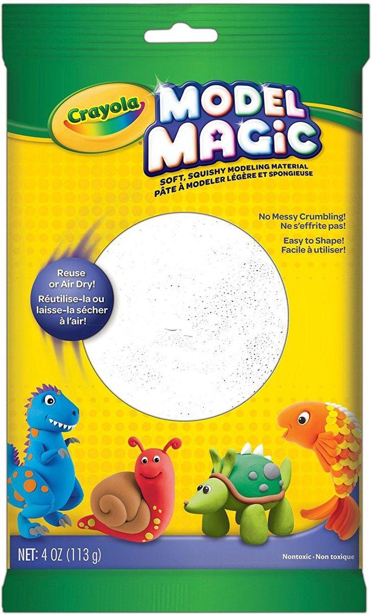 Crayola Застывающий пластилин цвет белый 113 г57-4401Волшебный застывающий пластилин Crayola белого цвета - прекрасное дополнение к любому шедевру вашего ребенка. Без белого цвета невозможно слепить практически ни одной фигурки. Приятный на ощупь пластилин, который во время использования не прилипает к рукам ребенка, позволит малышу включить всю свою фантазию. Помогите ребенку в развитии творческого мышления.Белый цвет малышу обязательно пригодиться, если тот решит слепить снеговика, белого медведя или просто вылепить какую-нибудь геометрическую фигурку.