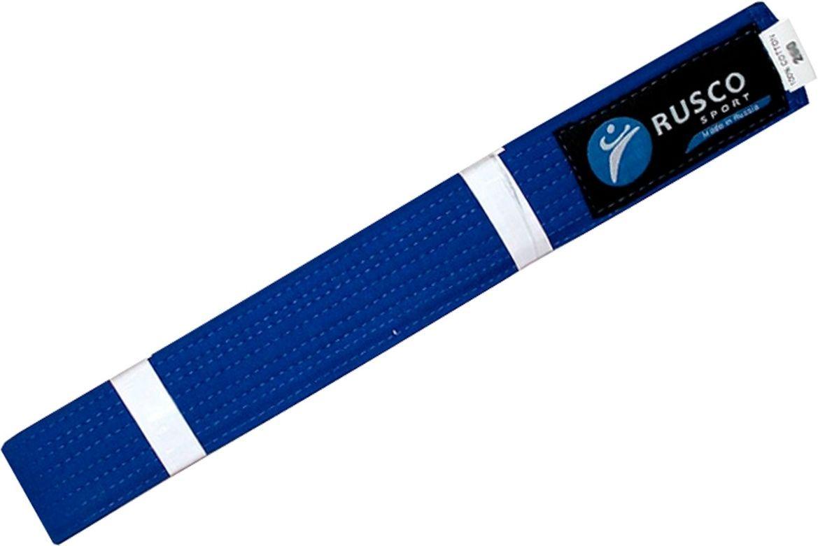 Пояс для единоборств Rusco, цвет: синий. УТ-00010492. Длина 260 см пояса rusco пояс для единоборств rusco 280 см коричневый