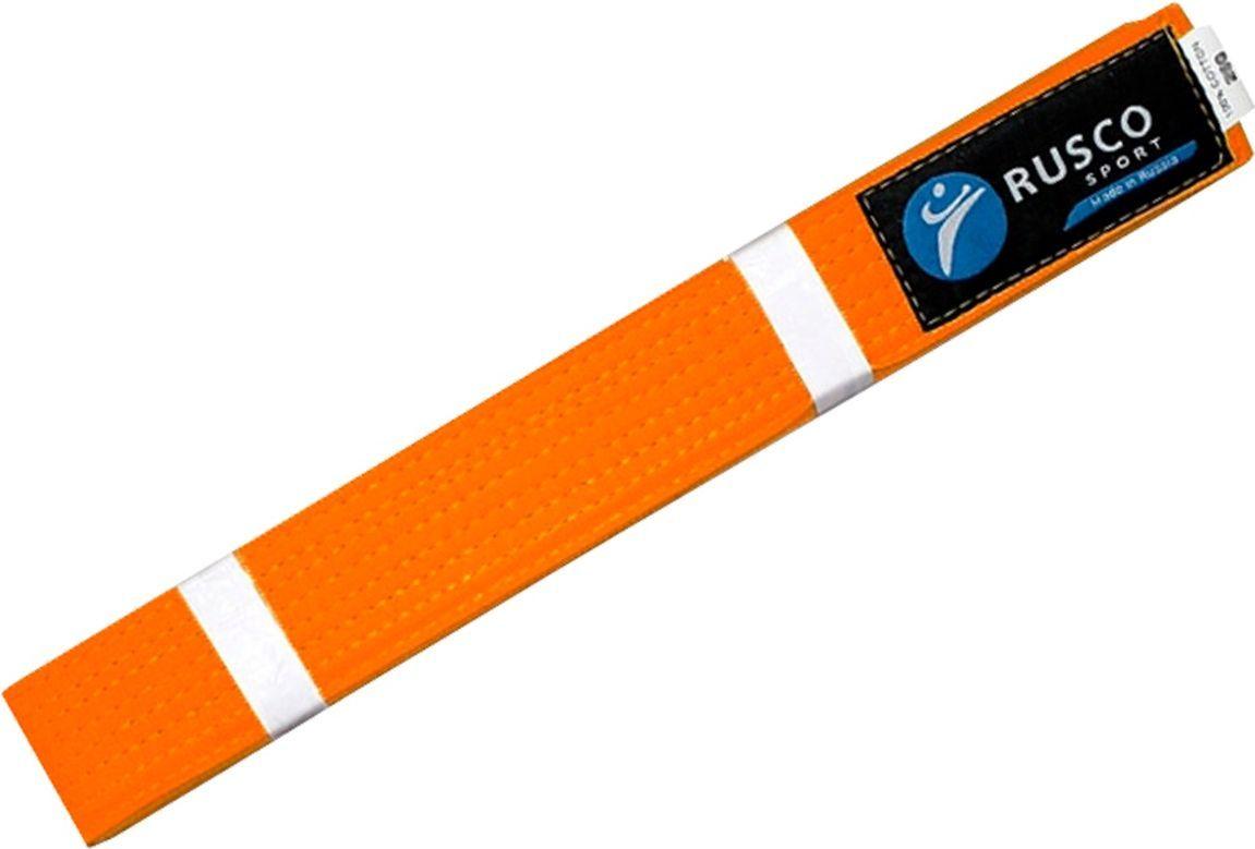 Пояс для единоборств Rusco, цвет: оранжевый. УТ-00001923. Длина 280 см пояса rusco пояс для единоборств rusco 280 см коричневый
