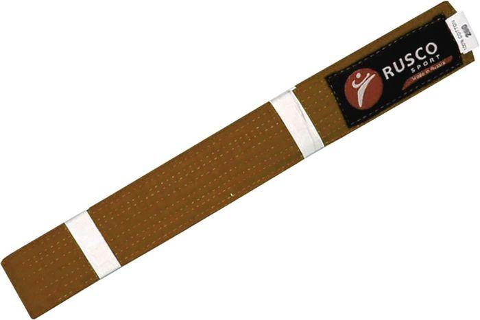 Пояс для единоборств Rusco, цвет: коричневый. УТ-00004634. Длина 280 смПояс УТ-0000Пояс для единоборств предназначен для занятий различными боевыми искусствами.