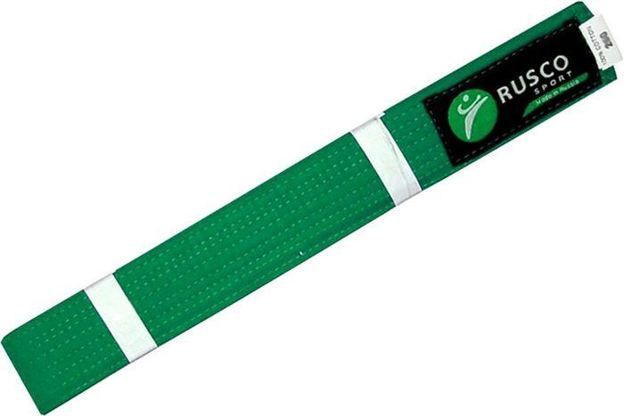 Пояс для единоборств Rusco, цвет: зеленый. УТ-00001921. Длина 280 см пояса rusco пояс для единоборств rusco 280 см коричневый