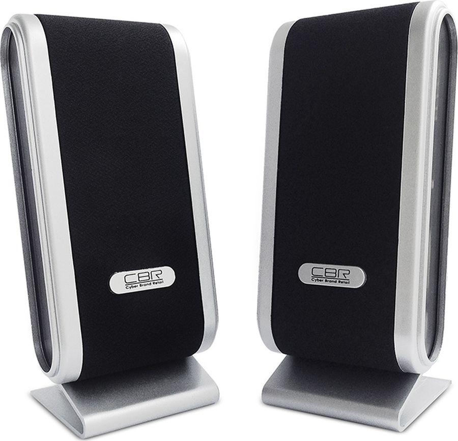 CBR CMS 299, Black Silver акустическая системаCMS 299CBR CMS 299 - это мультимедийная акустическая стереосистема 2.0. Идеальна для использования с персональными компьютерами, ноутбуками, CD, MP3, TV и другими совместимыми аудио устройствами.Высокое качество звука обеспечено высокими техническими показателями воспроизведения: пиковая мощность 3 Вт для каждой колонки, диапазон частот от 90 до 20000 Гц. Регулятор громкости удобно размещен на боковой панели колонки.Для начала работы достаточно подключить CBR CMS 299 к USB-порту и аудио выходу (не требуется драйверов).