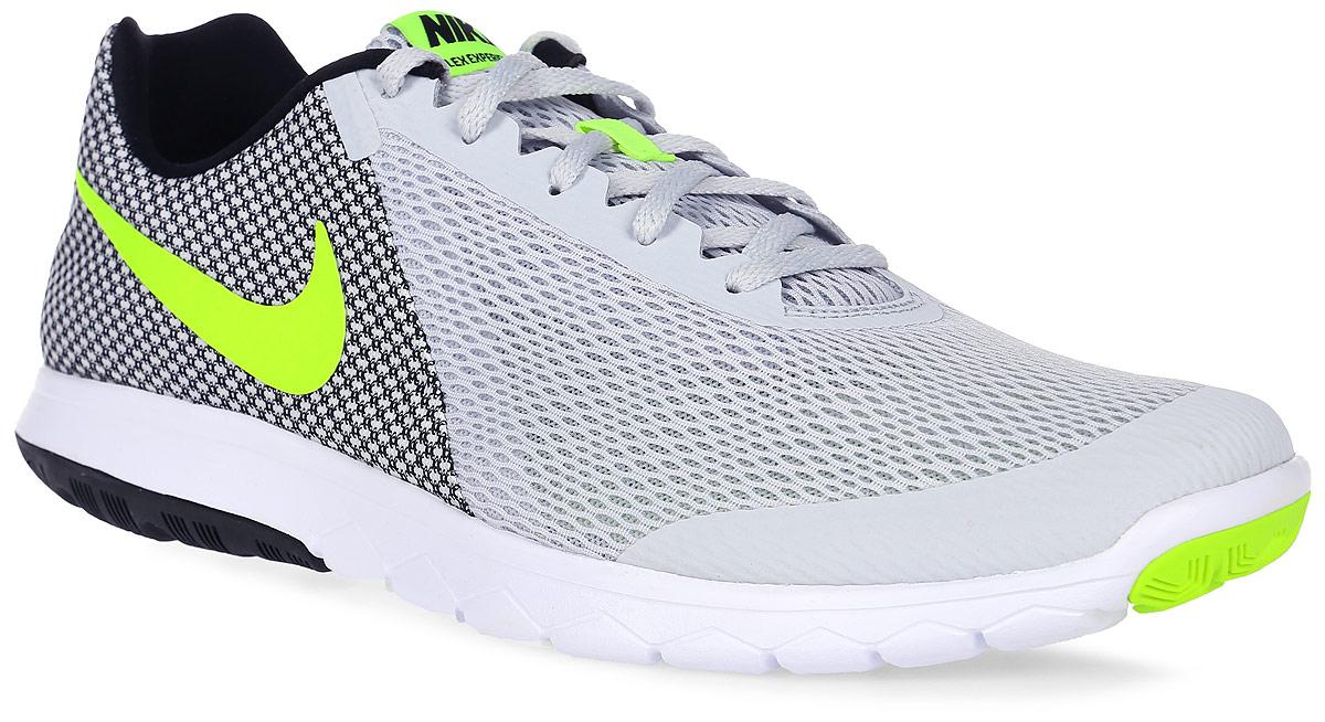 Кроссовки для бега мужские Nike Flex Experience Rn 6, цвет: светло-серый, черный, белый. 881802-005. Размер 12 (46,5)881802-005Модные мужские кроссовки для бега Flex Experience Rn 6 от Nike выполнены из текстиля и дополнены бесшовными накладками. Подкладка и стелька из текстиля обеспечивают комфорт. Шнуровка надежно зафиксирует модель на ноге. Подошва дополнена рифлением.