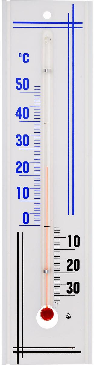 """Термометр комнатный """"Стеклоприбор"""" применяется для измерения температуры воздуха в помещении. Термометр выполнен из пластика, а колба изготовлена из ударопрочного стекла. Термометр оснащен широкой, подробной и наглядной шкалой. Изделие имеет широкий рабочий диапазон - от -30 и до +50°С со шкалой деления в 10°С. Цена деления составляет 1°С. Изделие имеет специальное отверстие для крепления. Не содержит ртути. Для хорошего самочувствия и здоровья идеальный микроклимат в доме создаст температура +18…+24°С."""
