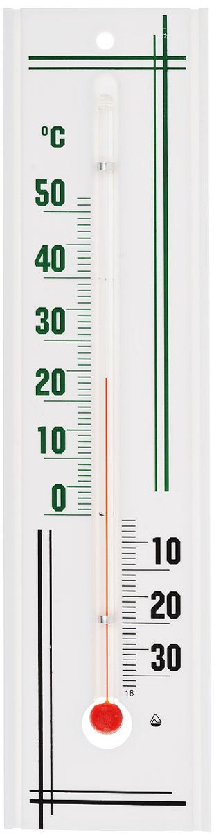 Термометр комнатный Стеклоприбор, цвет: белый, зеленый, черный. П-3 tfa 30 5038 01 термометр