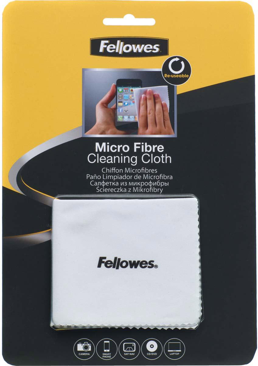Fellowes FS-99745 салфетка из микрофибры для чистки оптики видеокамер, мониторов, CD/DVDFS-99745Тканевая салфетка из микрофибры Fellowes FS-99745 позволяет безопасно удалять пыль и частицы грязи без применения жидких чистящих средств. Идеальна для чистки объективов фото и видеокамер, CD, DVD и экранов мобильных телефонов. Салфетка не содержит спирта, дерматологически безопасна. Полностью биологически разлагаема.