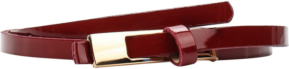 Ремень женский Finn Flare, цвет: вишневый. S17-11302_304. Размер 85S17-11302_304Ремень Finn Flare выполнен из искусственной кожи. Пряжка, с помощью которой регулируется длина ремня, выполнена из металла.