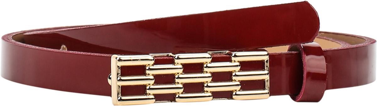 Ремень женский Finn Flare, цвет: вишневый. S17-11303_304. Размер 80S17-11303_304Ремень Finn Flare выполнен из искусственной кожи. Пряжка, с помощью которой регулируется длина ремня, выполнена из металла.