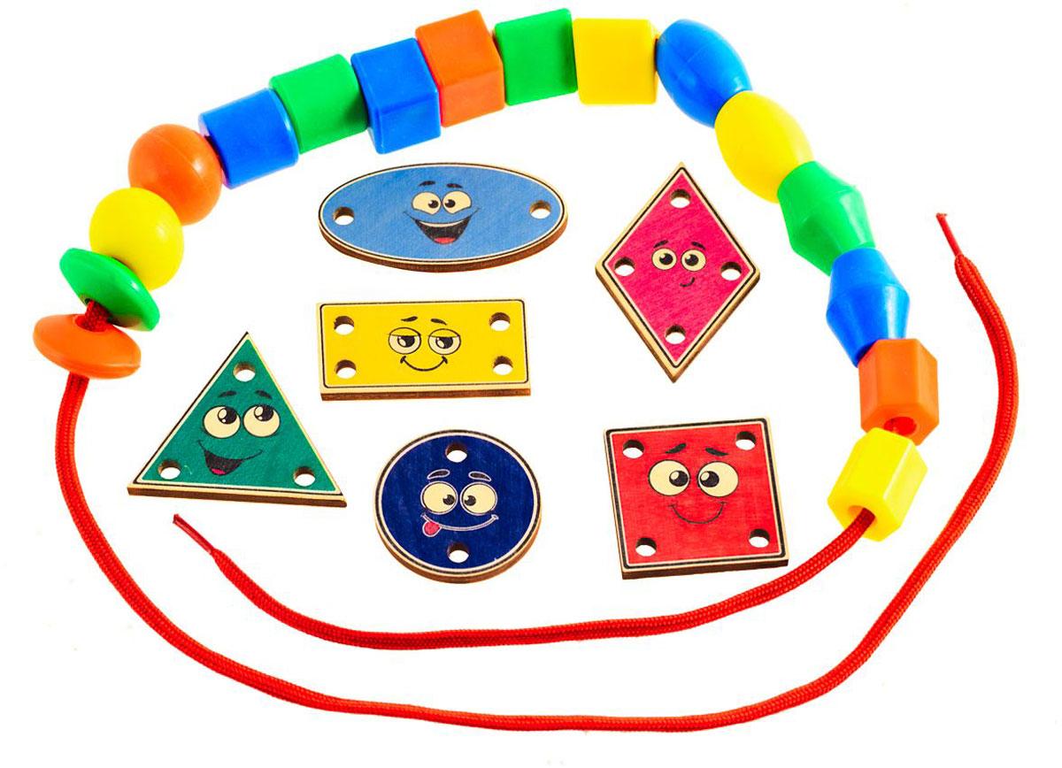 Развивающие деревянные игрушки Игра-шнуровка Веселые фигуры Эмоции развивающие деревянные игрушки обучающая игра крестики нолики классика