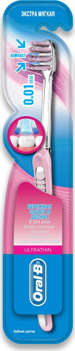 Oral-B Зубная щетка UltraThin, экстра мягкая, цвет: розовыйORL-81605844Зубная щетка Oral-B UltraThin с ультратонкими щетинками и обеспечивает глубокое и эффективное очищение. Онаулучшает состояние десен за 14 дней, снимая воспаление и уменьшая кровоточивость. Ультратонкие щетинки для глубокой чистки проникают в 2 раза глубже между зубов, чем щетинки обычной щетки.Применение щеток с ультратонкими щетинками является менее болезненным. Экстра мягкая щетка с ультратонкимищетинками и обладает успокаивающим эффектом и помогает снизить проявление гингивита, уменьшая воспаление икровоточивость десен.Товар сертифицирован.
