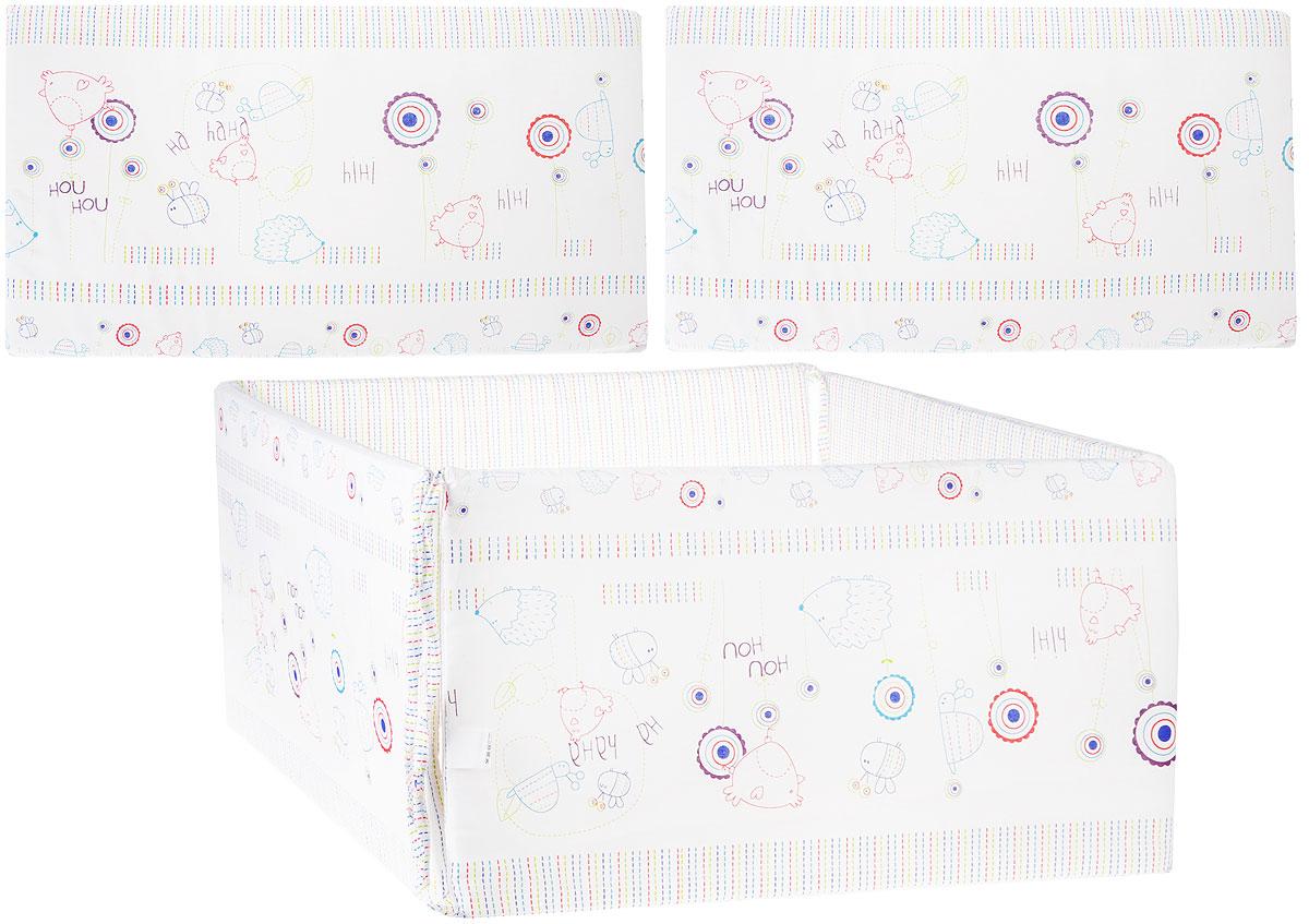 Baby Nice Бортик для кровати Ежик цвет белый -  Бортики, бамперы