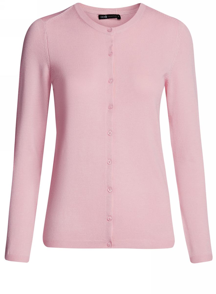 Жакет женский oodji Collection, цвет: светло-розовый. 73212401-1B/45904/4000N. Размер L (48) топ женский oodji collection цвет белый синий 24308001 19768 1275s размер l 48