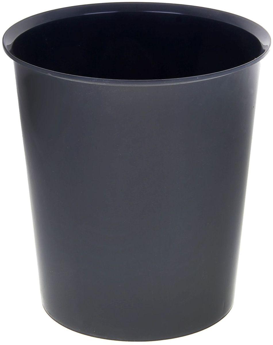 Стамм Корзина для бумаг цвет серый 14 л -  Корзины для бумаг