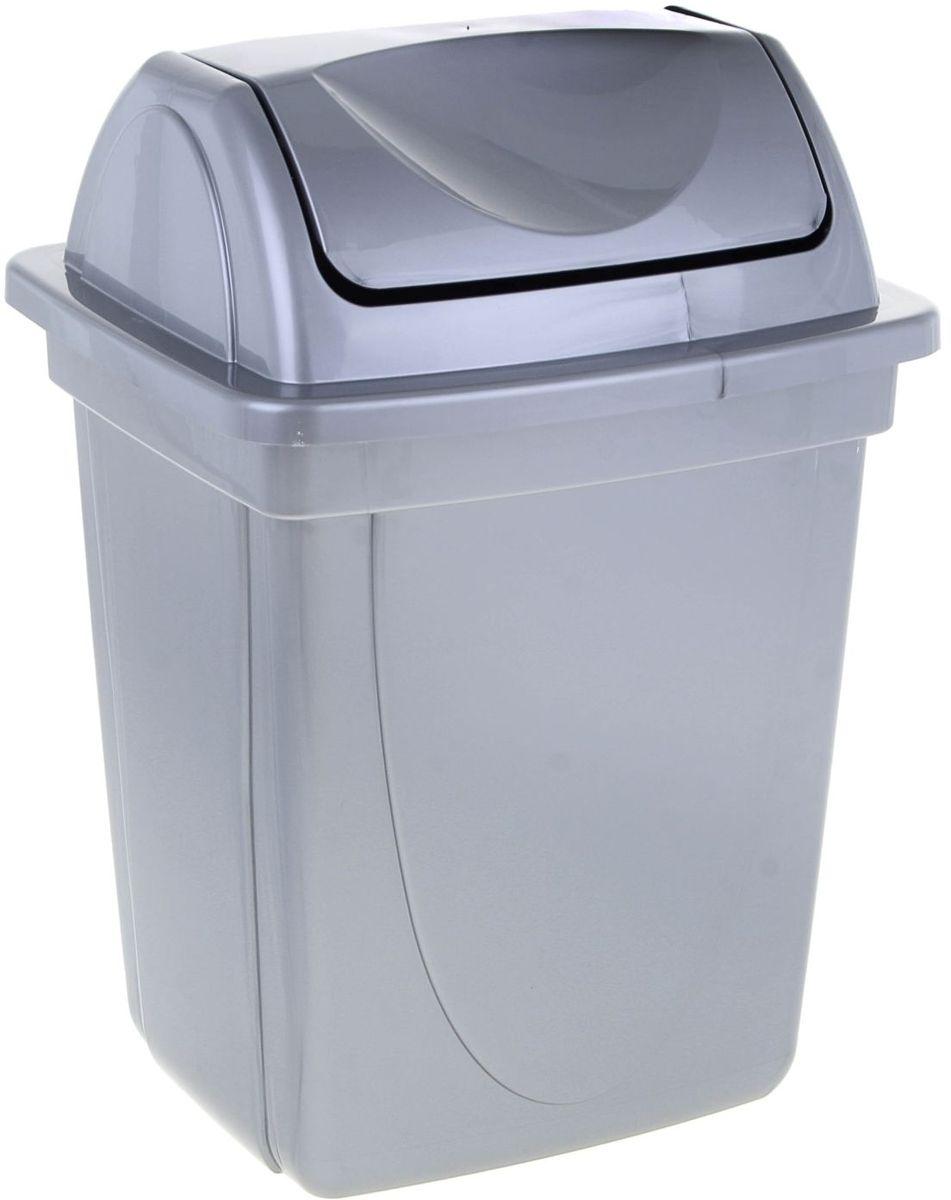 Стамм Корзина для бумаг цвет серый 12 л1083073Корзина для бумаг выполнена из высококачественного пластика и предназначена для сбора мелкого мусора и бумаг. Вместительная корзина оснащена удобной съемной крышкой, вращающейся на 360 градусов. Такая корзина прекрасно впишется в интерьер гостиной, спальни, офиса или кабинета.