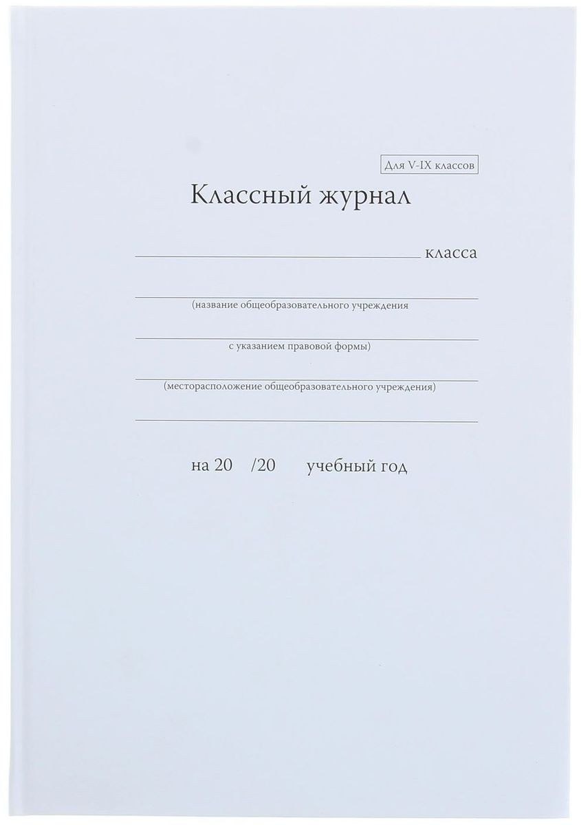 Альт Классный журнал для 5-9 классов 92 листа