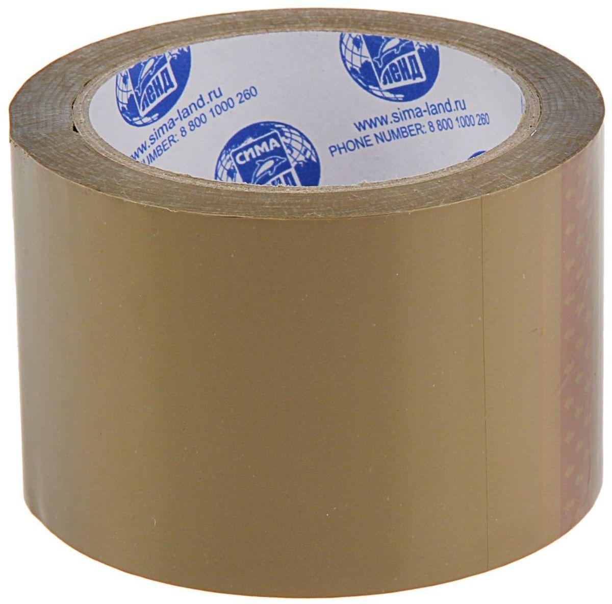 Клейкая лента 72 мм х 66 м цвет коричневый 12682141268214Упаковочная клейкая лента изготовлена из двуосноориентированного полипропилена (ВОРР) высокой прочности с нанесением клеевого слоя с одной стороны ленты.Она универсальна и используется, в основном, для заклейки гофрокоробов, оклеивания различных грузов, обернутых в стрейч-пленку или в полиэтиленовую пленку.Не следует клеить ленту непосредственно на неупакованную продукцию, так как следы клея плохо отмываются.