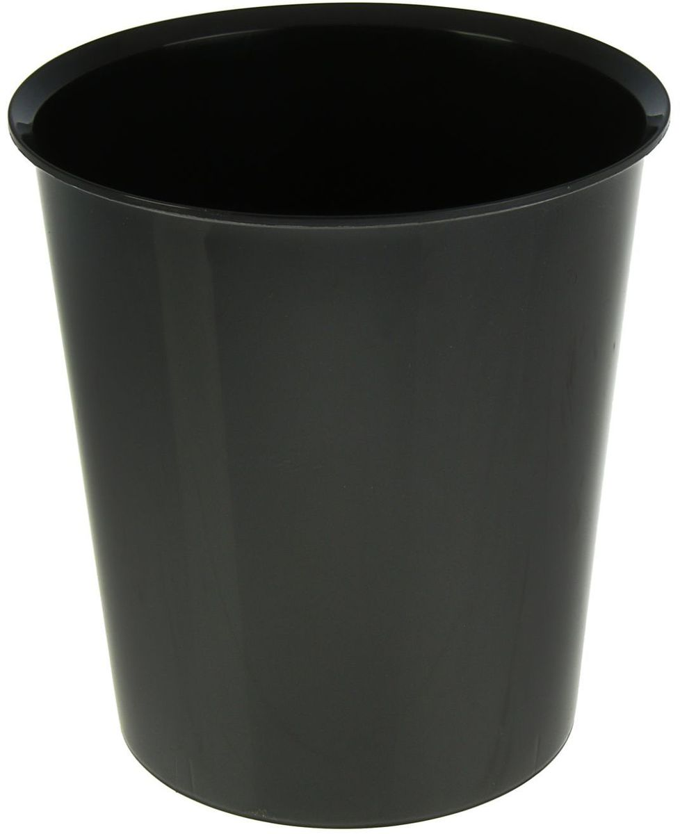 Стамм Корзина для бумаг 14 л цвет черный1889805