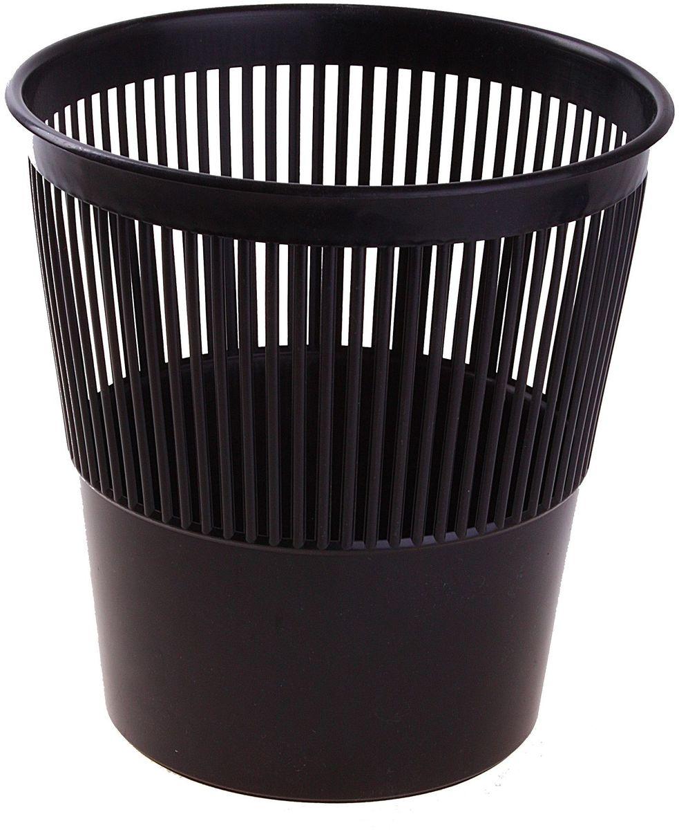 Стамм Корзина для бумаг цвет черный 9 л 584828584828Корзина для бумаг выполнена из высококачественного пластика и предназначена для сбора мелкого мусора и бумаг. Стенки корзины оформлены перфорацией.Удобная компактная корзина прекрасно впишется в интерьер гостиной, спальни, офиса или кабинета.