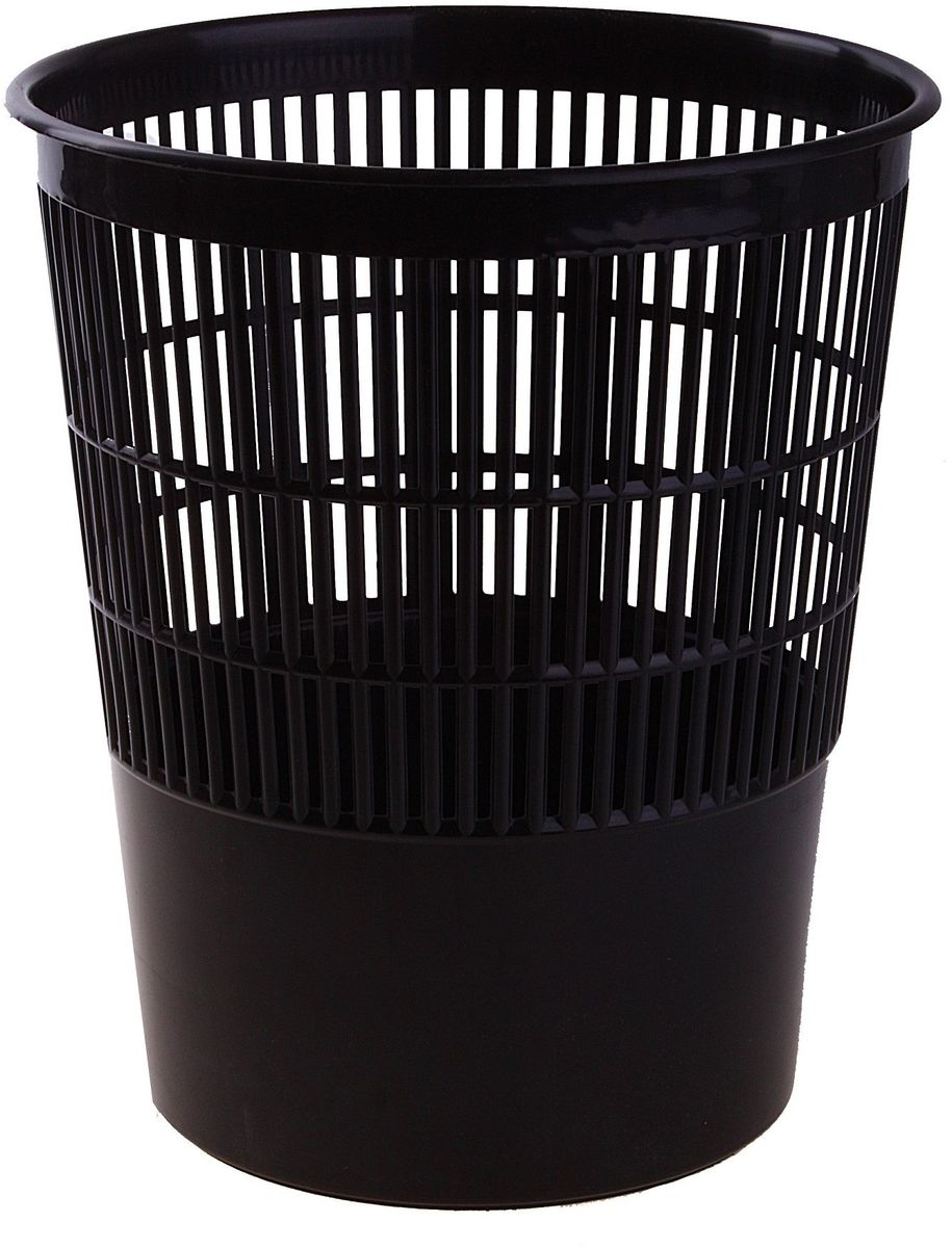 Корзина для бумаг 14 л цвет черный584830