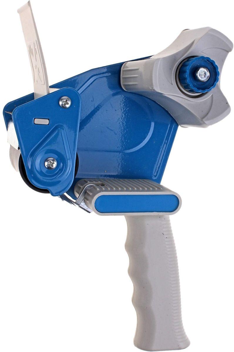 Диспенсер для клейкой ленты цвет синий 50 мм677093Диспенсер для клейкой ленты с креативным дизайном поможет украсить рабочее место.Яркий цвет привлечет к себе внимание окружающих, а легкая эргономичная форма гарантирует удобство в использовании. Диспенсер оснащен специальным механизмом подачи ленты.Диспенсер для клейкой ленты - современный и практичный офисный атрибут, который поможет в удобной организации рабочего пространства и станет стильным украшением стола.