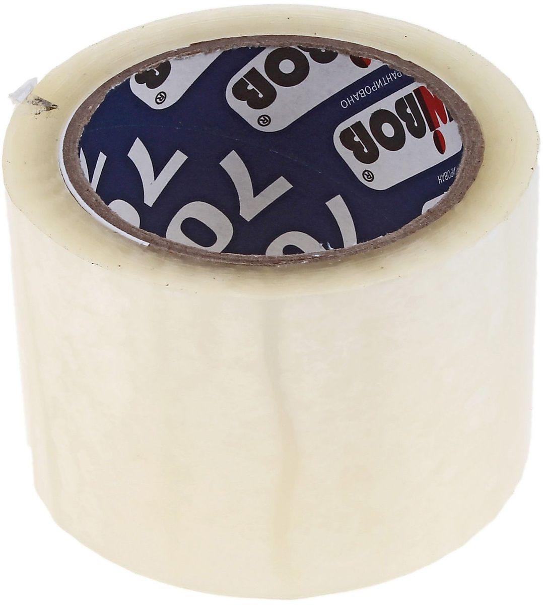 Unibob Клейкая лента 72 мм х 66 м цвет прозрачный 691941691941Клейкая лента Unibob на полипропиленовой основе - это водонепроницаемое изделие, которое способно противостоять широкому диапазону температур. Применяется в быту для упаковки легких и тяжелых коробок, изготовленных из гофрокартона, строительных смесей, масложировой продукции и мороженого, канцелярских товаров, промышленных товаров.Клейкая лента поможет скрепить предметы в любой ситуации, например, если вы делаете ремонт или меняете место жительства и пакуете коробки.