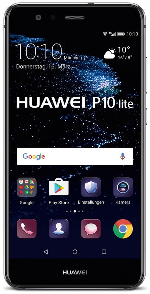 Huawei P10 Lite, Black51091LXLБлагодаря двойному 2.5D стеклу, металлическому корпусу с алмазной обработкой и лаконичной конструкции смартфон Huawei P10 Lite прекрасно выглядит и его приятно держать в руках.Стекло, покрывающее обе панели смартфона, гладкое и приятное на ощупь. Оно имеет седьмой уровень твердости по шкале Мооса, что делает смартфон прочным и устойчивым к царапинам и повреждениям. Водная гладь стала основой сапфирового синего цвета модели, а блестящая пленка толщиной 0,1 мм под задней стеклянной панелью напоминает водную рябь, которая меняется в зависимости от освещения.Благодаря процедуре ЧПУ алюминиево-магниевый корпус стал еще прочнее, красивее и долговечнее. А специальная процедура окисления придает смартфону яркость и предотвращает появление царапин.В результате керамической обработки боковые грани модели обретают рельефную отделку и в то же время гладкую поверхность, поэтому смартфон удобно держать в руках.Смартфон оснащен FHD-дисплеем с диагональю 5,2 дюйма, обеспечивающим широкую гамму RGB-цветов. С ним вы сможете запечатлеть всю красоту окружающего мира! В темное время суток снижается интенсивность свечения экрана, повышается комфорт для глаз.Аккумулятор емкостью 3000 мАч быстро заряжается и долго держит заряд. 10-минутной подзарядки хватает на 2 часа беспрерывного просмотра видео. Наличие сертификатов от 11 международных организаций, пятиуровневая система безопасности и технология быстрой зарядки дают вам возможность уверенно выполнять различные задачи с любой скоростью.Интеллектуальный аккумулятор с технологией Smart Power-Saving 5.0, которая продлевает время работы без подзарядки, снижает энергопотребление и оптимизирует использование приложений. Длительное время работы от аккумулятора позволяет дольше пользоваться любимыми приложениями.Процессор Kirin 658 сокращает энергопотребление и повышает производительность. Ультрасовременный пользовательский интерфейс EMUI 5.1 не только быстро работает, но также удобен в использовании и привлекателен