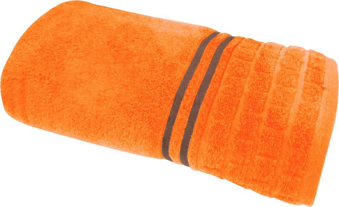 Полотенце махровое НВ Лана, цвет: оранжевый, 70 х 140 см. м1009_1370460