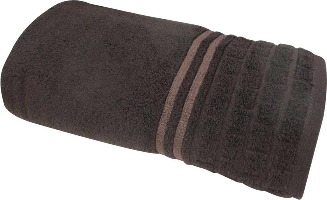 Полотенце махровое Bravo Лана, цвет: темно-коричневый, 100 х 150 см70465Полотенце Лана выполнено из натуральной махровой ткани (100% хлопок). Изделие отлично впитывает влагу, быстро сохнет, сохраняет яркость цвета и не теряет форму даже после многократных стирок. Полотенце очень практично и неприхотливо в уходе. Оно создаст прекрасное настроение и украсит интерьер в ванной комнате.