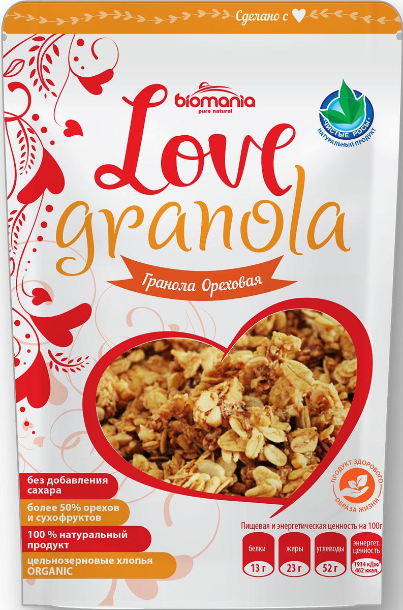 Biomania Love Granola гранола ореховая, 360 г энергетическая йога