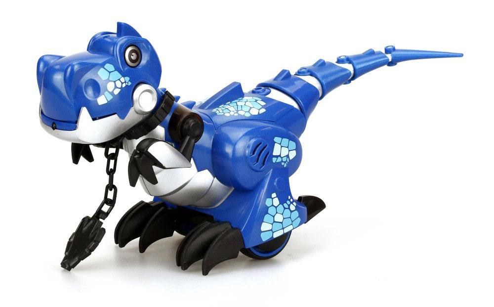 Silverlit Динозавр на радиоуправлении цвет синий роботы silverlit приручи динозавра белый