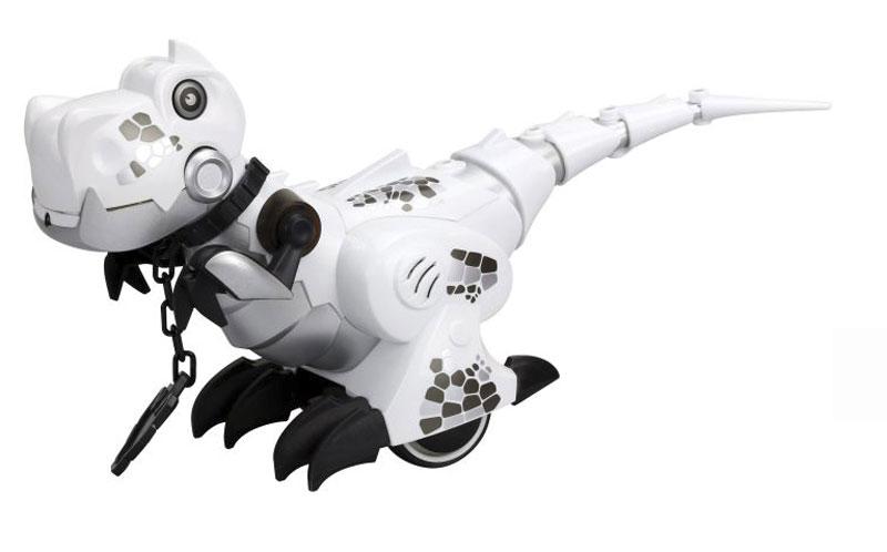 Silverlit Динозавр на радиоуправлении цвет белый роботы silverlit приручи динозавра белый
