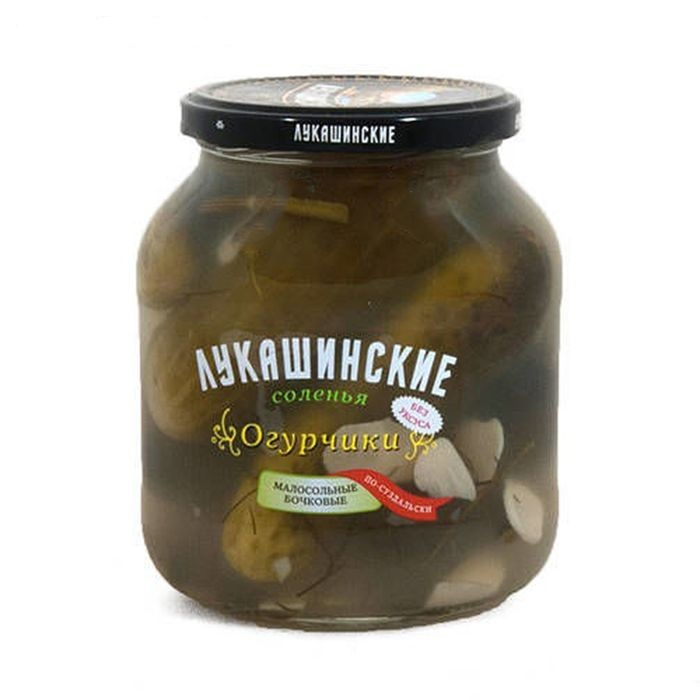 Лукашинские огурцы малосольные по-суздальски, 670 г лукашинские лимоны с имбирем 450 г