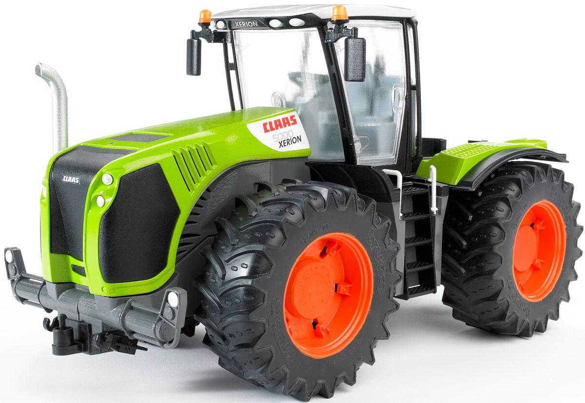 Bruder Трактор Claas Xerion 5000 с поворачивающейся кабиной трактор bruder claas axion 950 03 012
