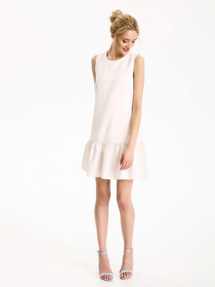 Платье Top Secret, цвет: бежевый. SSU1862BE. Размер 42 (50)SSU1862BEПлатье Top Secret станет стильным дополнением к вашему гардеробу. Платье, изготовленное из хлопка с добавлением эластана, обеспечит вам комфорт и удобство при носке, и непременно вызовет восхищение у окружающих. Модель с круглым вырезом горловиныи без рукавов по спине оформлена крупными завязками.Изделие имеет пришивную вставку на подоле, оформленную складками. Это модное платье поможет подчеркнуть ваш вкус и неповторимый стиль.