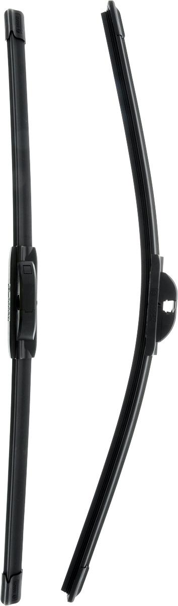 Щетки стеклоочистителя Bosch Aerotwin A016S, бескаркасные, 550 мм, 2 шт3397009016Комплект бескаркасных щеток Bosch Aerotwin A016S выполнен по современной технологии извысококачественных материалов. Щетки предназначеныдля установки на стекло автомобиля. Отличаютсявысоким качеством исполнения и оптимально подходятдля замены оригинальных щеток, установленных наконвейере. Обеспечивают качественную очистку стеклав любую погоду. Простой и быстрый монтаж.AEROTWIN - серия бескаркасных щеток компанииBosch. Щетки имеют встроенный аэродинамическийспойлер, что делает их эффективными на высокихскоростях, и изготавливаются из многокомпонентнойрезины с применением натурального каучука. Тип крепления: 10.