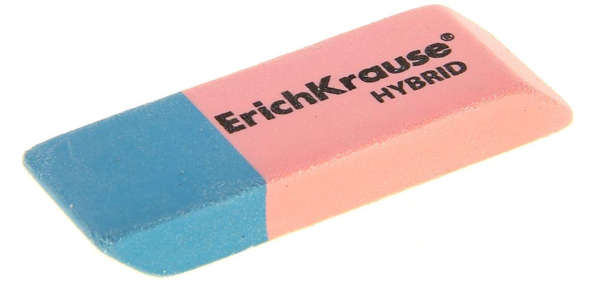 Erich Krause Ластик Hybrid1029974Ластик комбинированный, сине-розового цвета. Розовая часть ластика предназначена для стирания карандашных линий, синяя-для стирания чернил, оставленных шариковыми ручками.