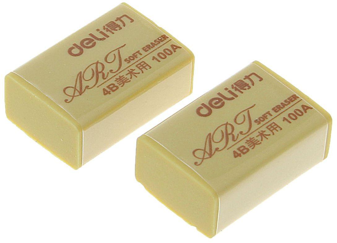 Deli Набор ластиков 2 шт1272948Ластики Deli предназначены для качественного удаления линий чернографитных и цветных карандашей. Обеспечивают высокое качество коррекции, не повреждая поверхность бумаги, не оставляя следов. В наборе 2 ластика прямоугольной формы.