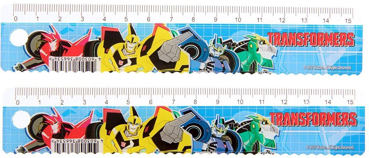 Transformers Набор линеек 15 см 2 шт1397451Набор линеек Transformers из двух штук выполнен из пластика, длина линеек - 15 см.Линейка - это незаменимый атрибут, необходимый школьнику или студенту, упрощающий измерение и обеспечивающий ровность проводимых линий.