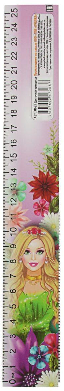 ТПК Пчелка Линейка-закладка Цветочная принцесса 25 см2135853Линейка — необходимый инструмент рабочего стола.Закладка-линейка 25 см Цветочная принцесса может понадобиться при изучении любого школьного предмета. Провести прямую линию и начертить отрезок на уроке математики? Легко! Подчеркнуть подлежащее, сказуемое или деепричастный оборот в домашнем задании по русскому языку? Проще простого!Возможности применения этого приспособления широки: оно пригодится как на занятиях в учебном заведении, так и при выполнении работы дома, а также поспособствует развитию начальных навыков черчения!