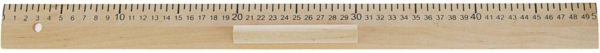 Эдельвейс Линейка для школьной доски 50 см2185614Деревянная линейка Эдельвейс предназначена для проведения измерительных работ и черчения графиков на школьной доске.Для удобства использования инструмента предусмотрен держатель. Он фиксируется на внешней стороне линейки, не перекрывает шкалу и данные. Длина в 0,5 м позволяет рисовать крупные фигуры и таблицы без лишних усилий.Зачастую линейка для доски выступает вспомогательным инструментом на уроках геометрии, географии, математики, черчения, биологии и рисования, выполняя функции указки, чертежного инструмента и измерителя.