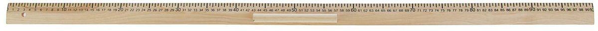 Эдельвейс Линейка для школьной доски 100 см2185616Деревянная линейка Эдельвейс предназначена для проведения измерительных работ и черчения графиков на школьной доске.Для удобства использования инструмента предусмотрен держатель. Он фиксируется на внешней стороне линейки, не перекрывает шкалу и данные. Длина в 1 метр позволяет рисовать крупные фигуры и таблицы без лишних усилий.Зачастую линейка для доски выступает вспомогательным инструментом на уроках геометрии, географии, математики, черчения, биологии и рисования, выполняя функции указки, чертежного инструмента и измерителя.