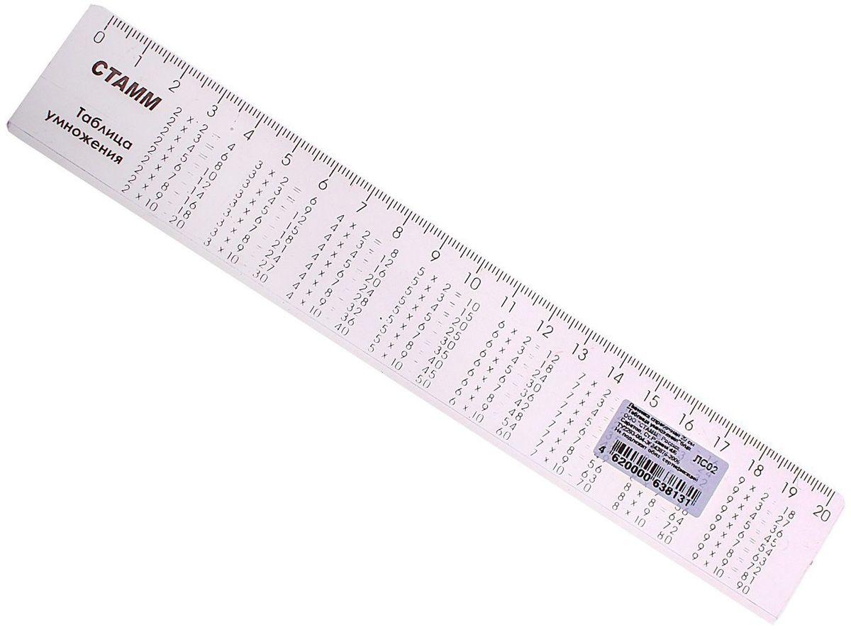 Стамм Линейка 20 см цвет прозрачный584813Линейка — необходимый инструмент рабочего стола.Линейка справочная Таблица умножения, бесцветная, 20см может понадобиться при изучении любого школьного предмета. Провести прямую линию и начертить отрезок на уроке математики? Легко! Подчеркнуть подлежащее, сказуемое или деепричастный оборот в домашнем задании по русскому языку? Проще простого!Возможности применения этого приспособления широки: оно пригодится как на занятиях в учебном заведении, так и при выполнении работы дома, а также поспособствует развитию начальных навыков черчения!