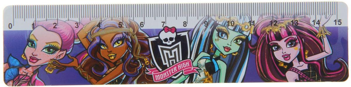 Monster High Линейка 15 см monster high большая книга творчества