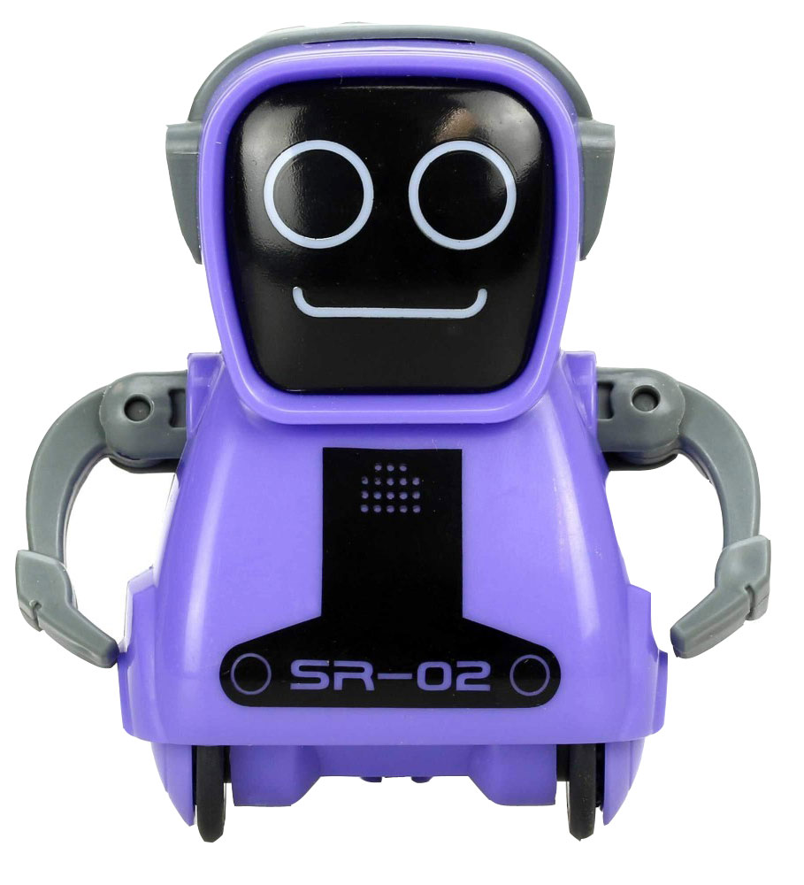 Silverlit Интерактивный робот Покибот SR-02 цвет фиолетовый - Интерактивные игрушки