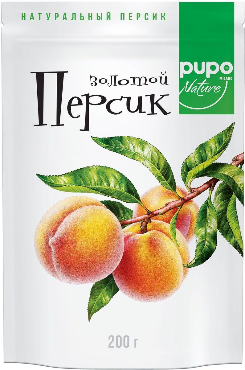 Pupo Персик золотой фрукты сушеные, 200 г фитпарад 10 заменитель сахара на основе эритрита 200 г