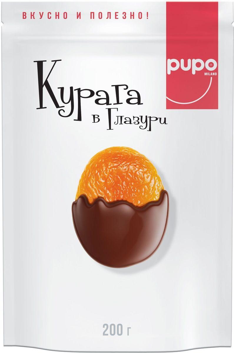 Pupo Курага в глазури конфеты, 200 г pupo конфеты киви в глазури 200 г