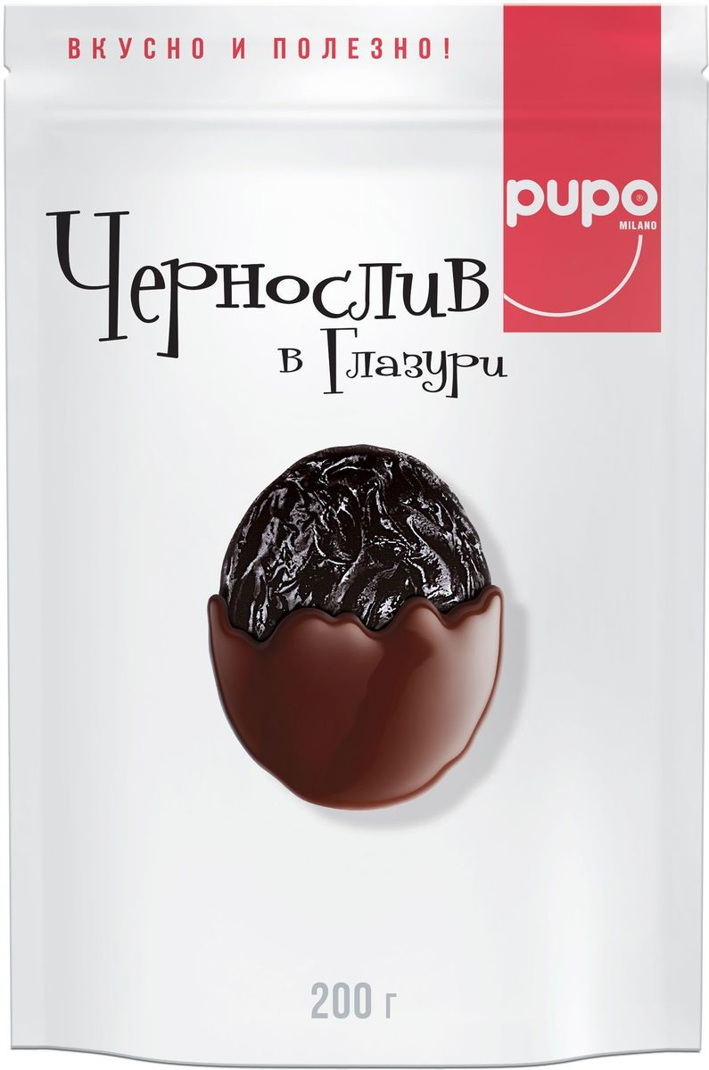 Pupo Чернослив в глазури конфеты, 200 г pupo конфеты киви в глазури 200 г
