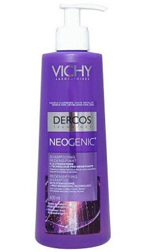 VICHY Neogenic Шампунь для повышения густоты волос 400млM0349002Neogenic Шампунь для повышения густоты волос обогащен стайлинговыми компонентами, используемыми в средствах для укладки волос. Укрепляет волосы, делая их более густыми и плотными, обеспечивает мгновенный и продолжительный объем. Уплотняет даже самые тонкие волосы и не утяжеляет прическу. Шампунь легко смывается, оставляя волосы мягкими, блестящими и легко поддающимися укладке.Воздействует на 5 свойств волос для повышения их густоты:1. Объем2. Густота3. Форма4. Сила5. Устойчивость