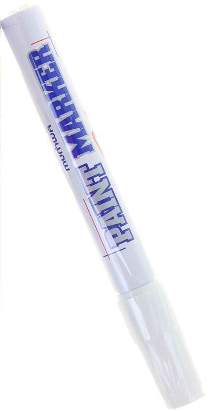Munhwa Маркер-краска цвет белый1110981Маркер-краска Munhwa на нитро-основе великолепно пишет по любому типу поверхности: бумаге, дереву, пластику, металлу, натуральному и искусственному камню, стеклу.Краска морозоустойчива, не выгорает на солнце, может писать по горячей (до 130 градусов) или загрязненной, в том числе и маслами, поверхности.Благодаря дозированной подаче краски при помощи клапанного пишущего узла исключаются растекания, неровности линии и преждевременное пересыхание.Толщина линии - 4 мм.
