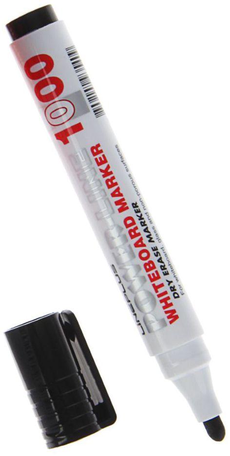 Line Plus Маркер для доски цвет черный1255311Маркер Line Plus для белой доски в классической форме корпуса.Линия имеет яркий и насыщенный цвет, легко стирается, что является важнейшим качеством маркера.Высокое качество пишущего состава и наконечник из фиброволокна, позволит чертить яркие и насыщенные линии.